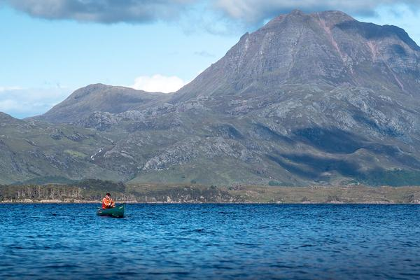 Canoeing, Loch Marie, Wester Ross